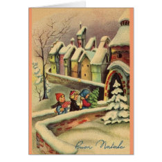 Vintage Italian Christmas Greeting Card at Zazzle