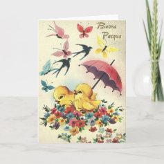 Vintage Italian Easter Card