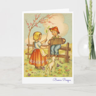 Italian easter greetings gifts on zazzle vintage italian easter greeting buona pasqua holiday card m4hsunfo