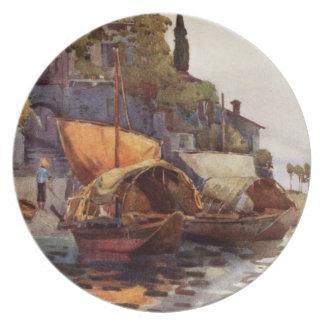 Vintage Italian Fishing Boats Ella Du Cane Shore Plates