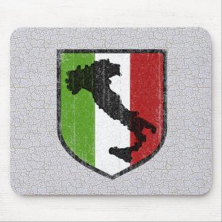Vintage Italian Flag Boot Mousepad