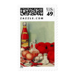 Vintage Italian Food Tomato Onions Peppers Catsup Postage Stamps