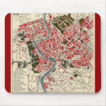 Vintage Italian Italy Roma Map of Rome Mouse Pad