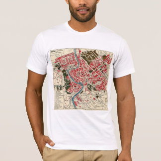 Vintage Italian Italy Roma Map of Rome T-Shirt