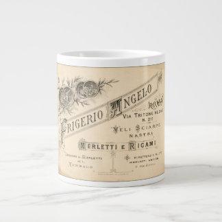 Vintage Italian Lace Shop Advertisement Large Coffee Mug