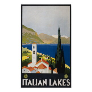 Vintage Italian Lakes Poster