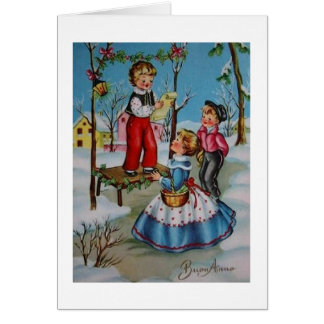 Vintage Italian New Year's Greeting Card