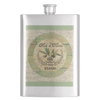 Vintage Italian Olive Oil Decanter- Hip Flask