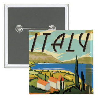 Vintage Italian Poster Pinback Buttons