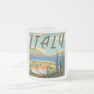 Vintage Italian Poster Frosted Glass Coffee Mug