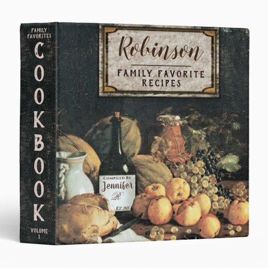 Vintage Italian Recipe Cookbook 3 Ring Binder