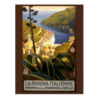 Vintage Italian Riviera Italy postcard