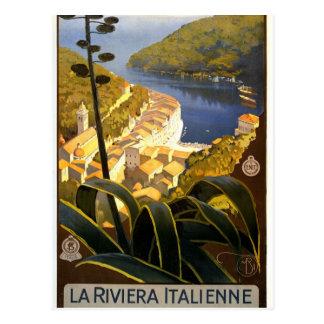 Vintage Italian Riviera Postcard