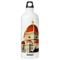 Vintage Italian Tourism Poster Aluminum Water Bottle