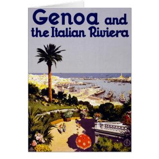 Vintage Italian Tourism Poster Scene Card