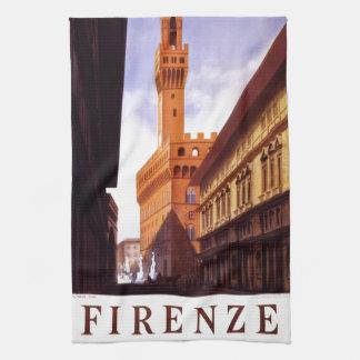 Vintage Italian Tourism Poster Scene Hand Towel