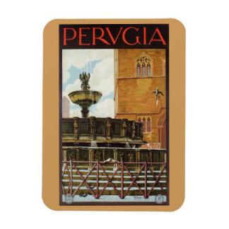 Vintage Italian travel ad Perugia Magnet