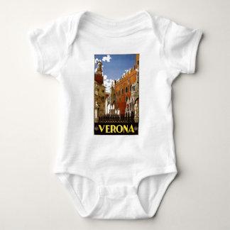 Vintage Italian Travel Poster to Verona Baby Bodysuit