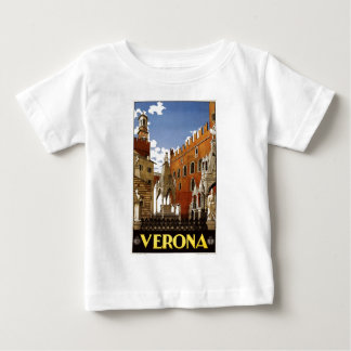 Vintage Italian Travel Poster to Verona Baby T-Shirt