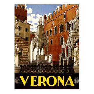 Vintage Italian Travel Poster to Verona Postcard