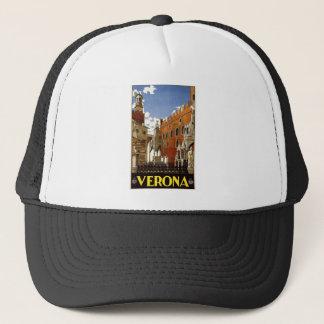 Vintage Italian Travel Poster to Verona Trucker Hat