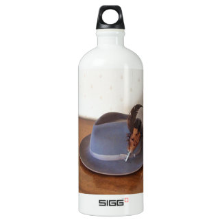 Vintage Italian Trilby With Feathers Aluminum Water Bottle
