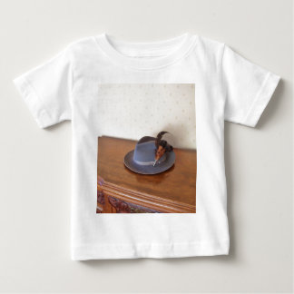 Vintage Italian Trilby With Feathers Baby T-Shirt