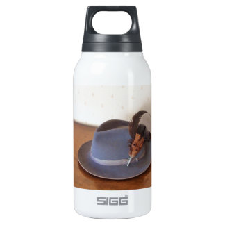 Vintage Italian Trilby With Feathers Insulated Water Bottle