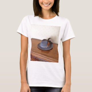 Vintage Italian Trilby With Feathers T-Shirt