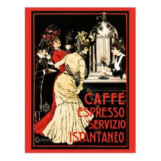 Vintage Italian Victorian coffee espresso ad Postcard