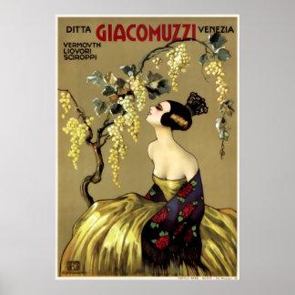 VINTAGE ITALIAN WINE c. 1900 Poster