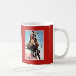 Vintage Italian winter sports ski travel ad Coffee Mug