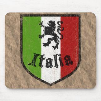Vintage italiano Brown Mousepad del escudo Tapetes De Ratones
