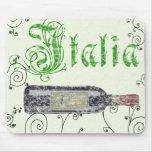 Vintage italiano Mousepad de la botella de vino Alfombrilla De Ratones
