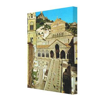 Vintage Italy, Amalfi Basilica, Cathedral Canvas Print