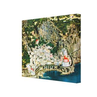 Vintage Italy, Amalfi Coast Canvas Print