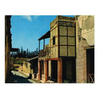 Vintage Italy, Antiquities,Herculaneum, IVth Cardo Postcard