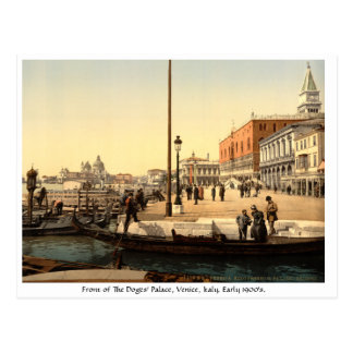 Vintage Italy, Doges Palace Venice Postcard