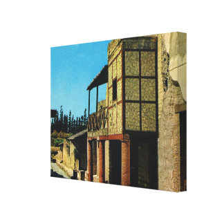 Vintage Italy, excavations at Herculaneum Gallery Wrapped Canvas
