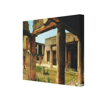 Vintage Italy, excavations at Herculaneum Gallery Wrap Canvas
