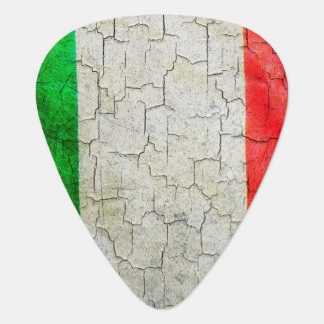 Vintage Italy flag on a brick wallCracked Italy fl Guitar Pick