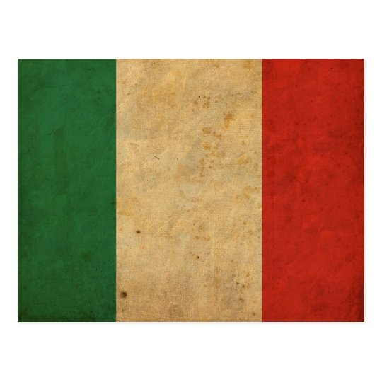 Vintage Italy Flag Postcard