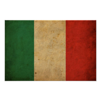 Vintage Italy Flag Poster