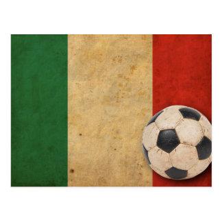 Vintage Italy Football Postcard