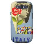 Vintage Italy Italian David Statue Travel Poster Samsung Galaxy SIII Cases