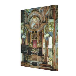 Vintage Italy, Italy Isola de Guilio,  Basilica Canvas Print