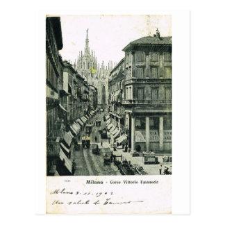 Vintage Italy, Milano, Corso Vittorio Emmanuele Postcard