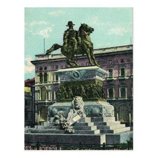 Vintage Italy, Milano Vittorio Emmanuelle II 1904 Postcard