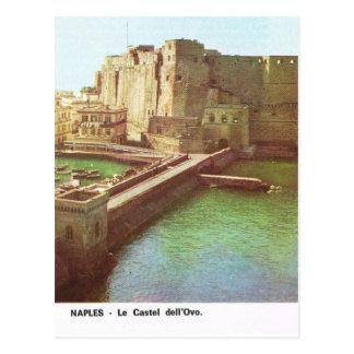 Vintage Italy,  Napoli, Castello d'Ovo Postcard