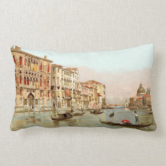 Vintage Italy Palazzo Franchetti Venezia Venice Lumbar Pillow